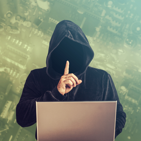 information technology law: Hacker at work.