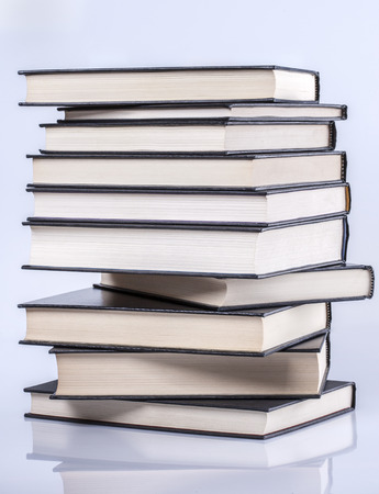 hardcover: Stack of hardcover books