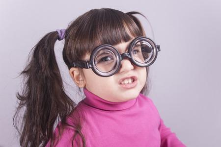 nerdy: Funny nerdy little girl