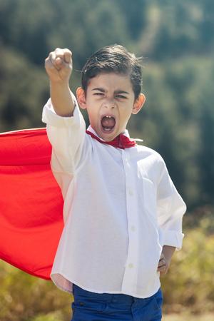 unstoppable: Super boy concept Stock Photo