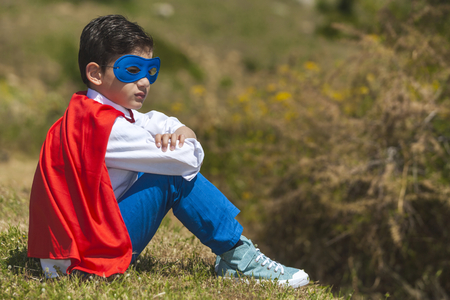 unstoppable: Little Superhero resting