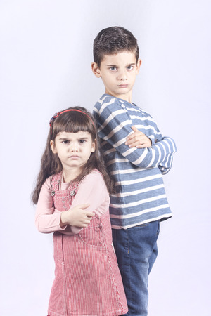 Children pissed off at each other