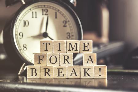 休憩の概念のための時間