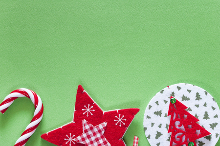 Christmas background with copy space. Top view