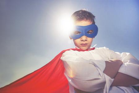 Superhero kid with an attitude