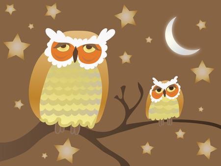 Night Owls Stock Vector - 6877295