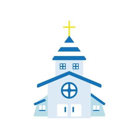 Icono de la Iglesia Ilustración de vector