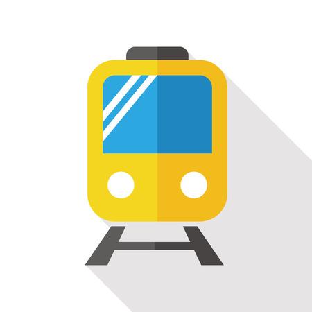 loco: Railway Train flat icon with long shadow