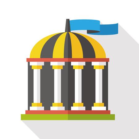 capitol hill: Building theme dome elements cartoon