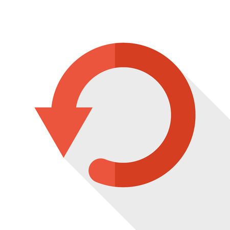 orientation marker: refresh flat icon with long shadow