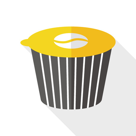 creamer: coffee creamer flat icon with long shadow Illustration