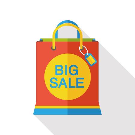 money packet: sale shopping bag flat icon