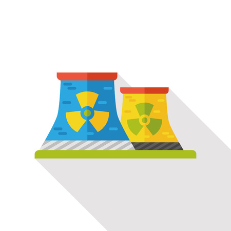 atomkraft: Nuclear power tower flat icon