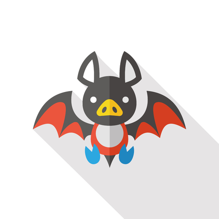 halloween bat flat icon