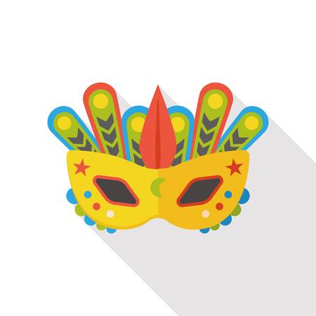 masquerade mask: party mask flat icon