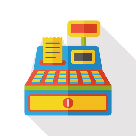 maquina registradora: compras caja registradora icono plana