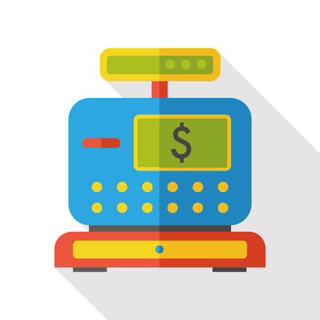 cash: shopping cash register flat icon