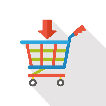 shoppingcart: shopping cart flat icon Illustration