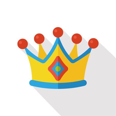 prince princess: crown flat icon Illustration