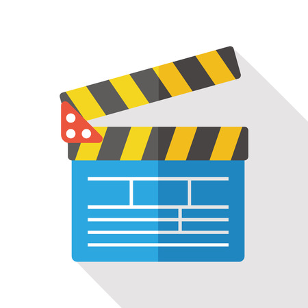 clapboard: clapboard flat icon