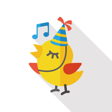 singing bird: singing bird flat icon