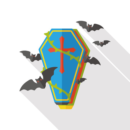 decomposition: coffin flat icon