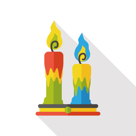 candlelight: Halloween candlestick flat icon