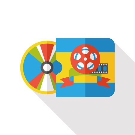 dvd: DVD flat icon Illustration