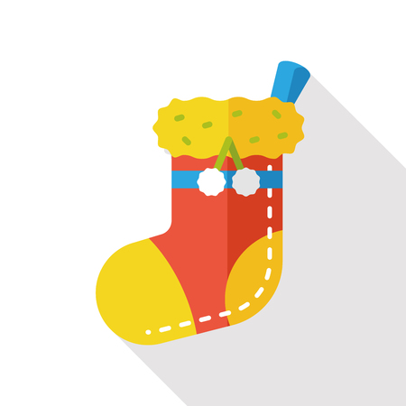 christmas icon: Christmas socks flat icon