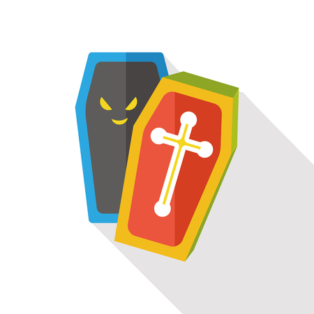 death and dying: coffin flat icon