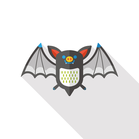 halloween bat: halloween bat flat icon