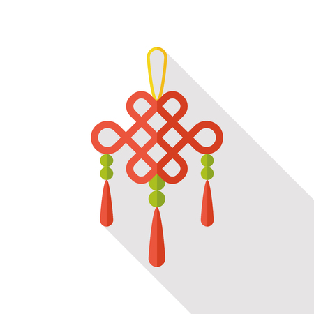 blown: Chinese New Year lucky pendant flat icon