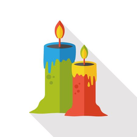 Halloween candlestick flat icon
