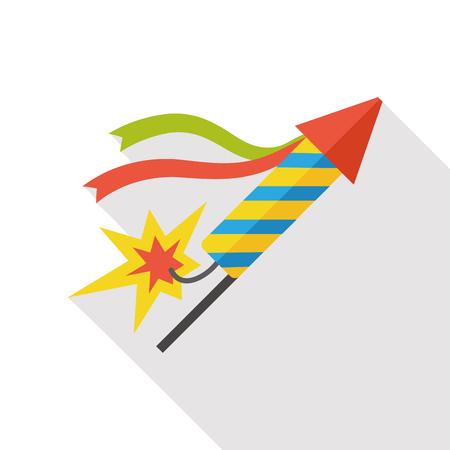 firecracker: birthday firecracker flat icon