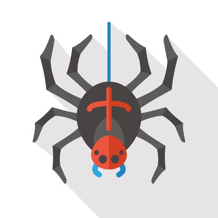 halloween spider: Halloween Spider flat icon