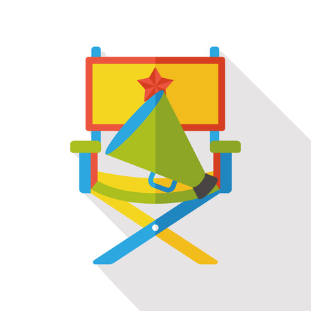 director chair: director chair flat icon Illustration