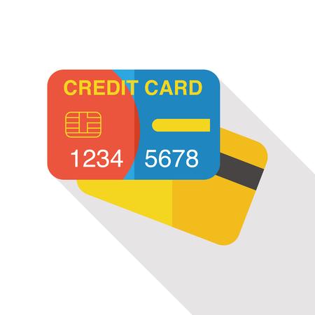 creditcard: credit card flat icon Illustration