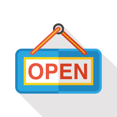 shop open flat icon