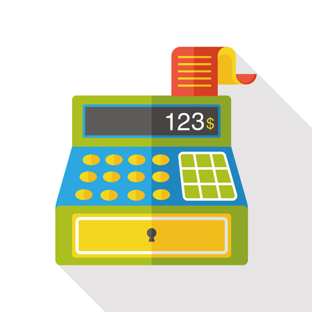 calculator money: shopping cash register flat icon