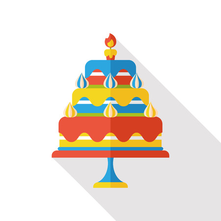 buttercream: birthday cake flat icon