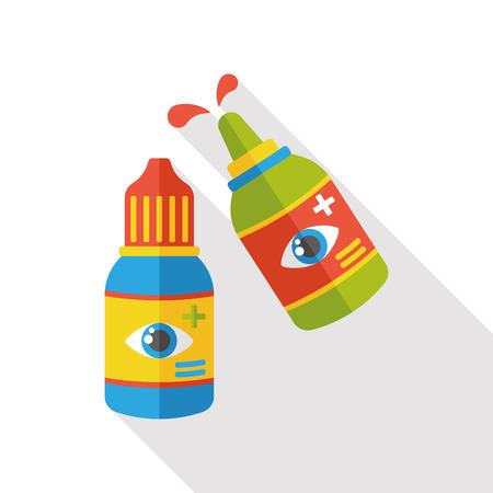 therapeutic: Eye Drop flat icon