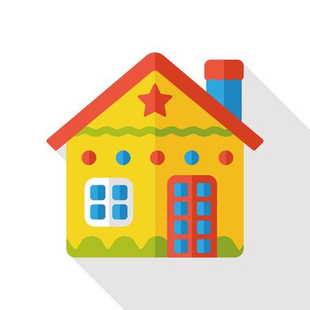 christmas house: Christmas house flat icon
