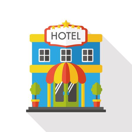 호텔 플랫 아이콘