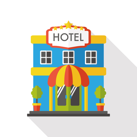 hotel rooms: hotel flat icon