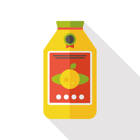fresh juice: juice flat icon Illustration