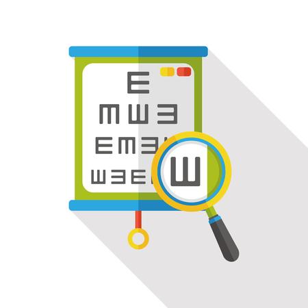 optician: eye test chart flat icon