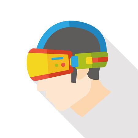 technology mask flat icon