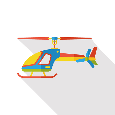 helicopter: helicopter flat icon Illustration