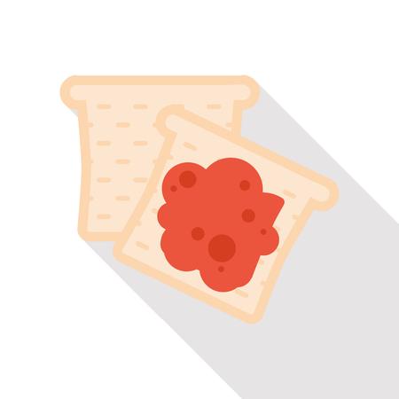 토스트 플랫 아이콘