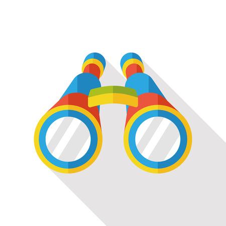 binoculars view: Binoculars flat icon